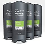 Dove Men+Care Body Wash and Shower Gel Extra Fresh 18 oz 4...