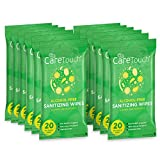 Care Touch Alcohol-Free Hand Sanitizing Wipes - 12 Pouches,...