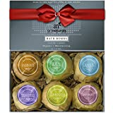 ArtNaturals Bath Bombs Gift Set - 6 Bubble Bath Bomb Fizzies...