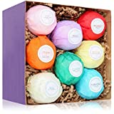 HanZá 8 Bath Bombs Gift Set Ideas - Vegan Gifts for Women,...