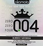 OKAMOTO 004 Condoms, 24 count, White, 4738