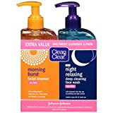 Clean & Clear 2-Pack Day and Night Face Cleanser Citrus...