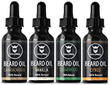 Scented Beard Oil Variety Pack of 4 - All Natural Citrus,...