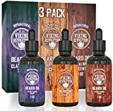 Beard Oil Conditioner 3 Pack - All Natural Variety Set -...