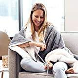 Pure Enrichment PureRelief Plush Heated Throw - Fast-Heating...