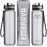 Embrava Best Sports Water Bottle - 32oz Large - Fast Flow,...