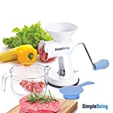 Simple Being Manual Meat Grinder Set w/Stainless Steel...