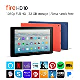 Fire HD 10 Tablet with Alexa Hands-Free, 10.1' 1080p Full HD...